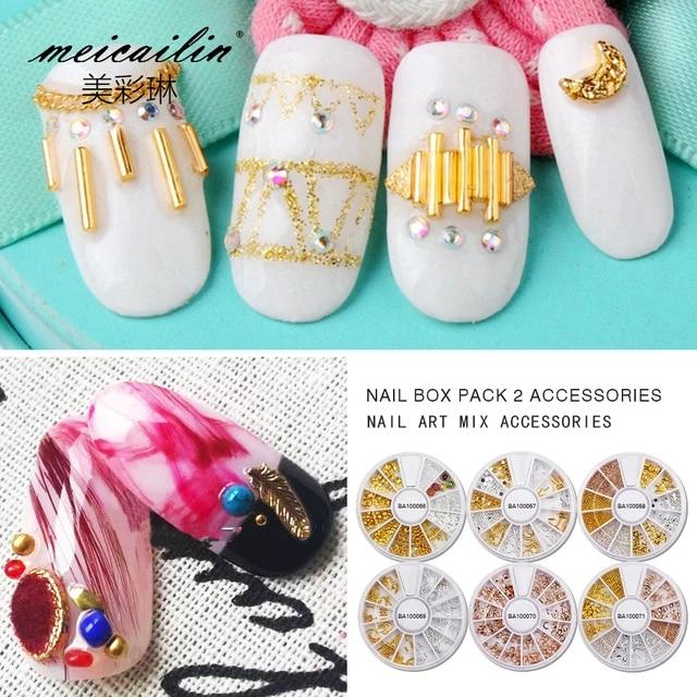 Shoptagr | Meicailin 12 Designs/Sets 3 D Nail Art Wheel Tips Gold ...