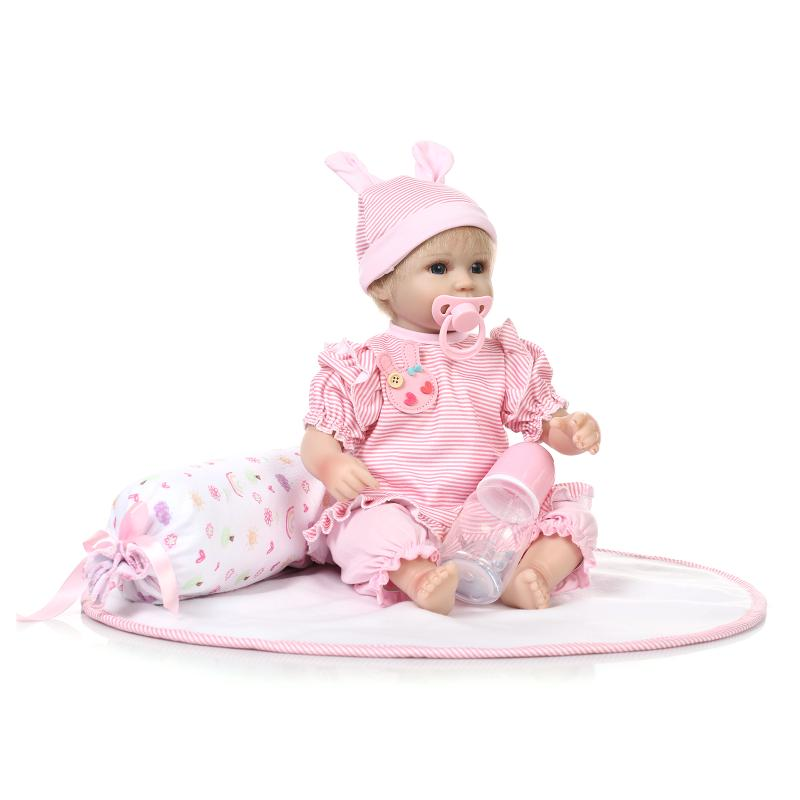 517inch new born baby 3 dolls dolls bebe reborn menina children best best gift silicone reborn for Best reborn baby dolls