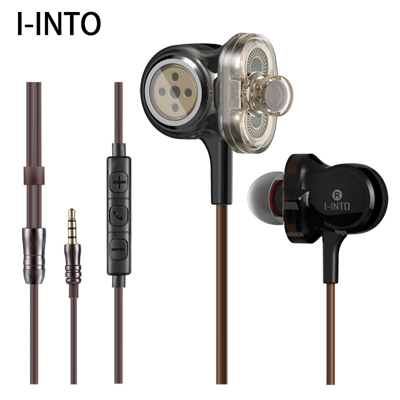 100% <font><b>Original</b></font> I-INTO i8 3DD <font><b>6</b></font> stick HIFI stereo Kopfhörer pop musik bass DJ 3,5 MM kabel-headset mit MIC Für <font><b>iPhone</b></font> Xiaomi Huawei image