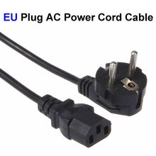 2 Prong EU Plug AC Power Cord Cable 1.2m 4FT For PC Desktop Monitor Computer Power Supply Converter Adapter