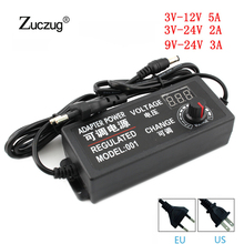 Adjustable AC To DC 3V 9V 12V 24V 2A Power Supply Display Screen Power Lighting Transformers 3 9 12 24 V Volt For Led Lamp Light 100 240vac to 3 3vdc 198w 3 3v 60a ul listed power supply led screen monitor ultra slim driver lrs 350 3 3