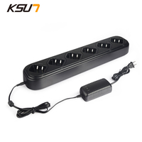 Single Row Six Way Universal Rapid Charger For Walkie Talkie Baofeng BF 5r 5RA 5RB Two