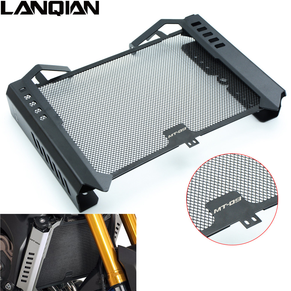 For Yamaha MT09 2014 2015 Motorcycle Radiator Side Cover Set & Radiator Grille Guard Cover Protector MT 09 14 15 With MT-09 LOGO arashi motorcycle radiator grille protective cover grill guard protector for 2008 2009 2010 2011 honda cbr1000rr cbr 1000 rr