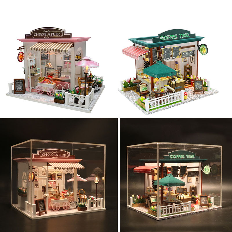 2 style Doll House Miniature with Furniture DIY Wooden Miniaturas Dollhouse Toys for Children Gift COCOAS FANTASTIC IDEAS C0072 style Doll House Miniature with Furniture DIY Wooden Miniaturas Dollhouse Toys for Children Gift COCOAS FANTASTIC IDEAS C007