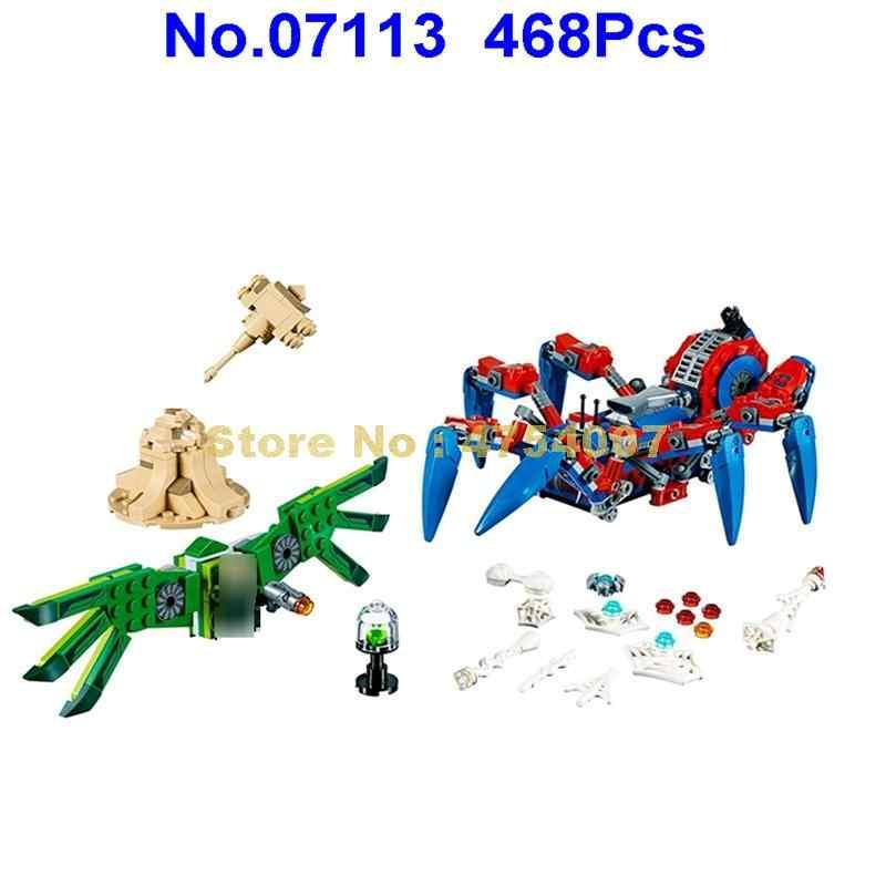 468 pçs super heróis homem aranha rastreador 4 figuras blocos de construção 76114 brinquedo