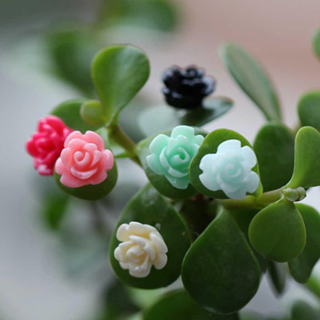 20 шт мини цветы из каучука миниатюрный Горшки Бонсай космический микро-ландшафт для Домашнего Цветоводства Декор Свадебная вечеринка украшения
