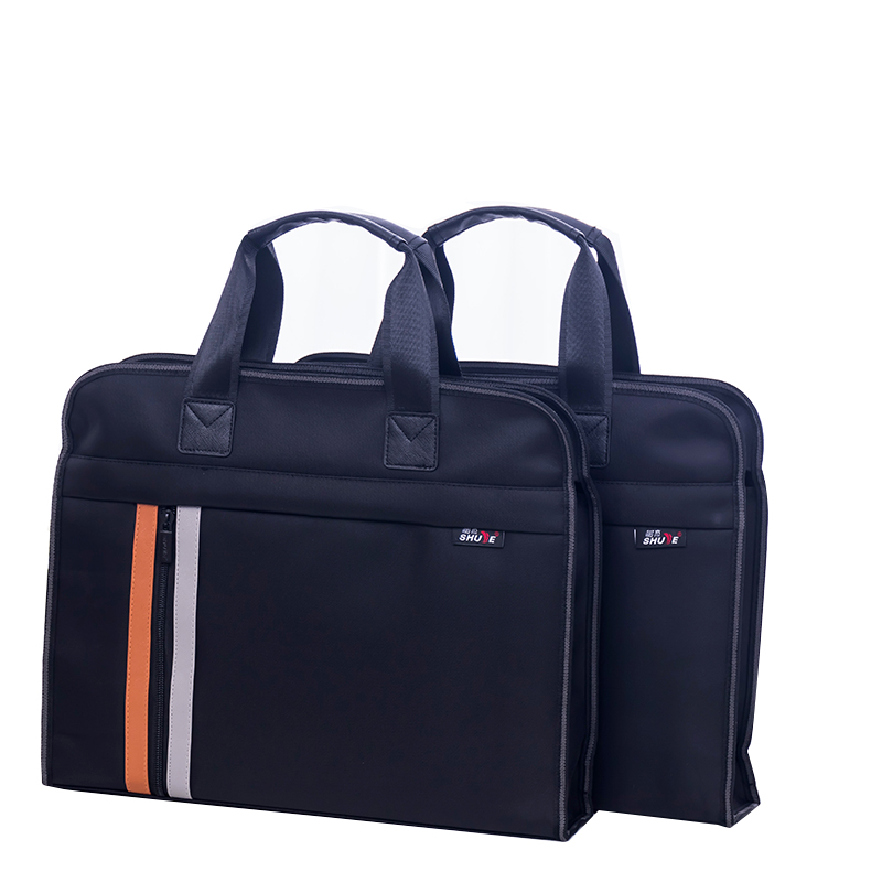 High Capacity Portable File Bag A4 Zipper Men Briefcase Document Bag Portable Business Travel Document Bag Waterproof Canvas Bag deli zipper document bag a4 document bag file folder document bag briefcase fabric travel orange blue black simple new arrival