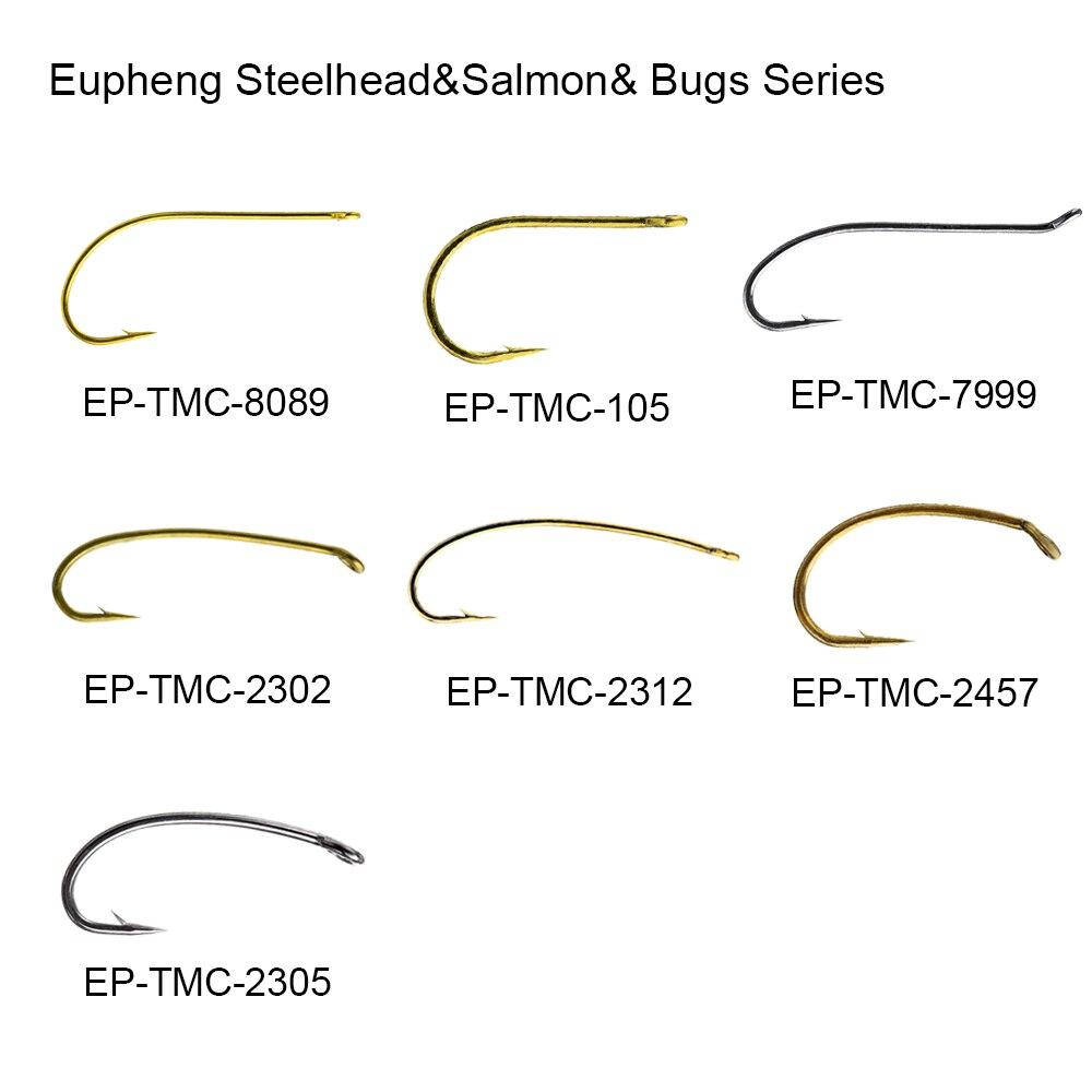 Eupheng 100pcs Steelhead Salmon Stone Bug Egg Series Fishing Hooks Caddis Hopper Streamer Wet Fly Fishing Hooks