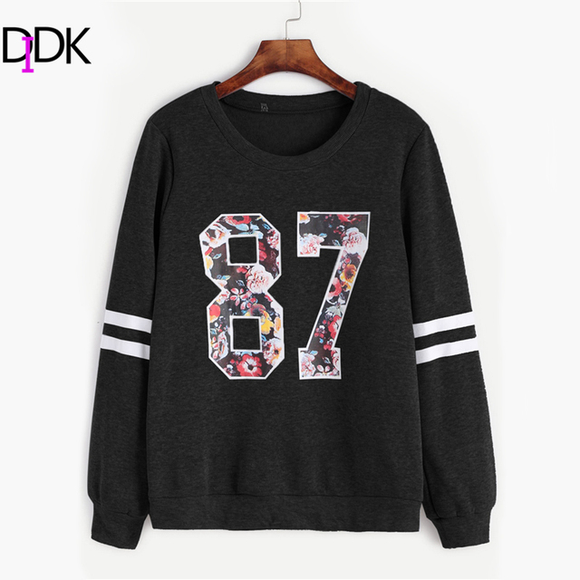 Aliexpress.com : Buy DIDK Varsity 87 Print Stripe Sleeve ...