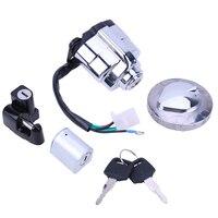 Motorcycle Electric Door Lock Set with Edge/Fuel Tank Cover Lock Helmet Lock for Honda CA250 Moto Accessories