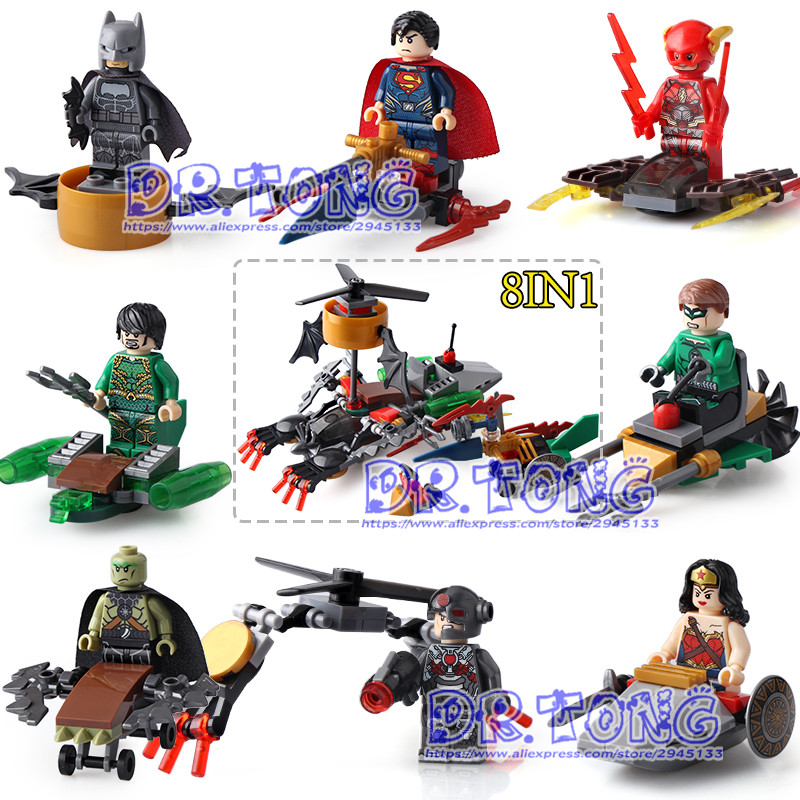DR TONG 80pcs/lot Super Hero Superman Flash Nightwing Version Wonder Woman Diana Prince Batman Movie Building Blocks Toys Sy657 dr tong 20pcs lot pg1049 super hero