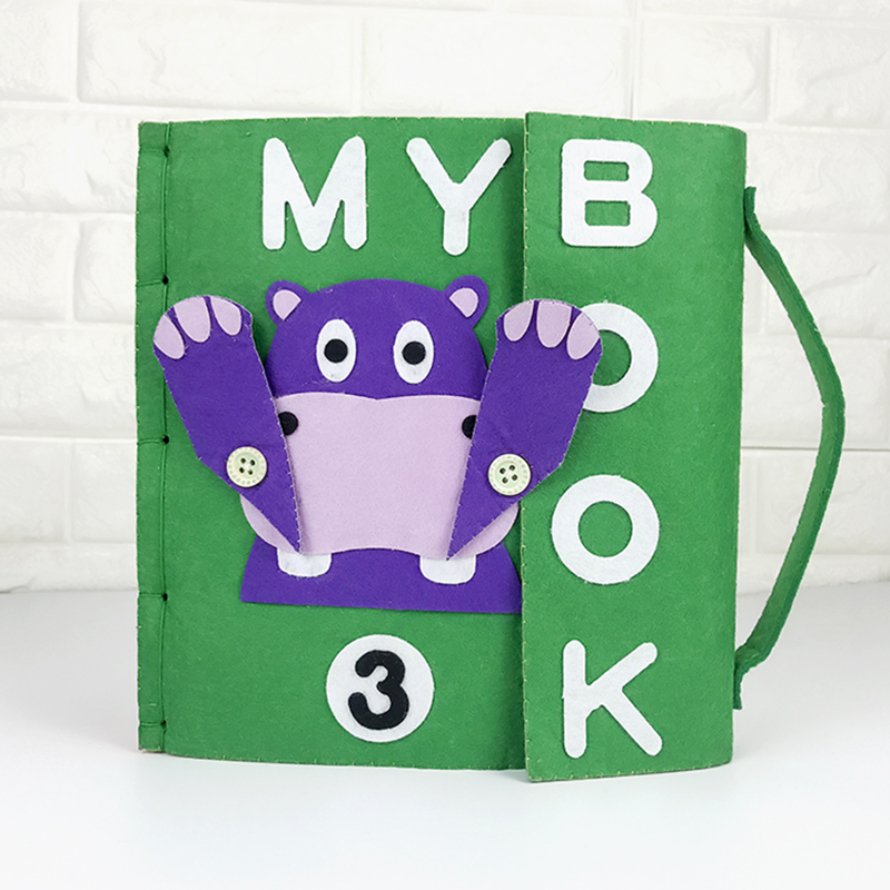Handmade My First Book Quiet Soft Felt Cloth Quiet Book Baby Early Educational Felt Material DIY Package Special Toys For Kids