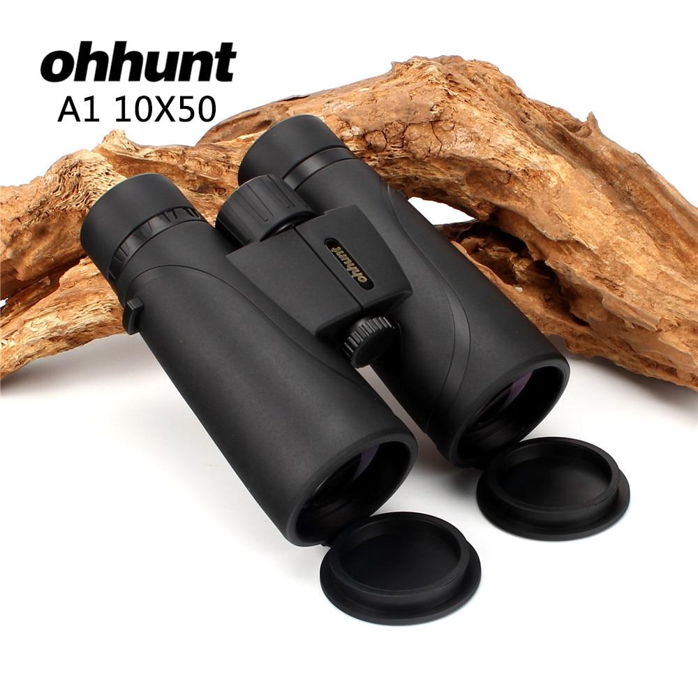 Hunting ohhunt A1 10X50 Binoculars Wide-angle Waterproof Fogproof Telescope Powerful Bright Optics Camping Hiking Binocular цены