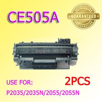 wholesale 2pcs 505A Toner cartridge CE505A compatible for LJ2055/2035/505A +