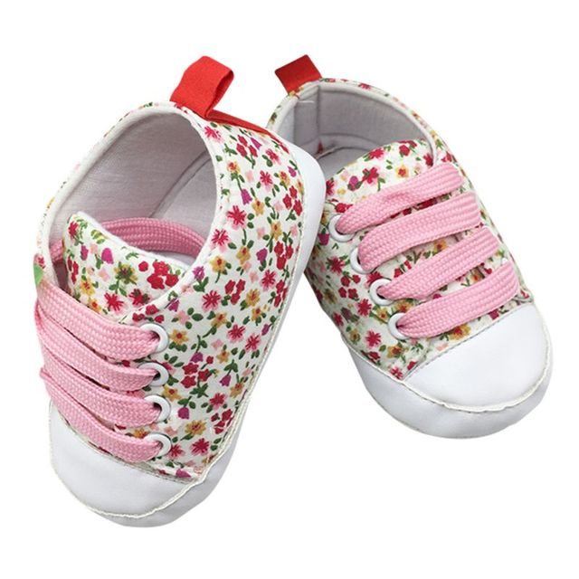 2017 Toddler Kids Casual Lace-Up Sneaker Soft Soled Baby Crib Shoes First Walkers 0-18M Hot Selling 2