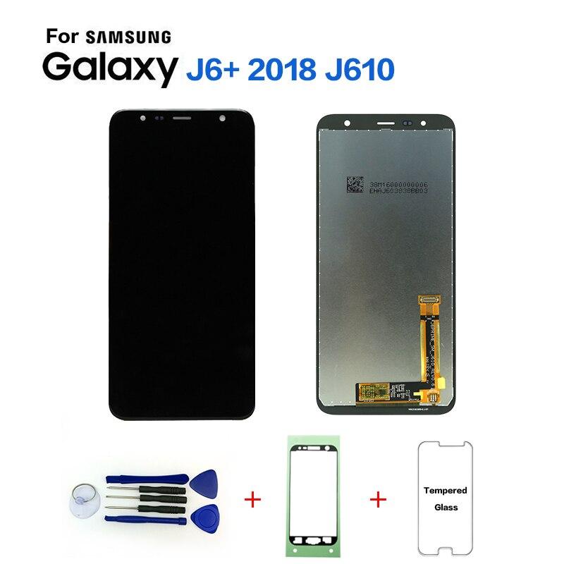 Pour Samsung Galaxy J6 + J610 SM-J610F SM-J610FN Affichage écran lcd remplacement pour Samsung J6 + SM-J610F lcd module d'affichage écran