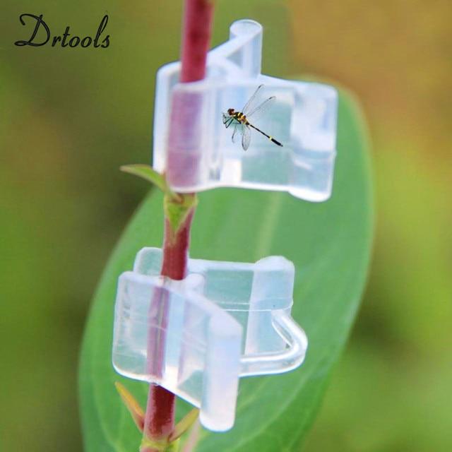50Pcs pack kwiat ogrodowy roślina winorośl szczepione sadzonki oddziałów złącze na zatrzask łączniki plastikowe klipsy narzędzie ogrodowe GT035