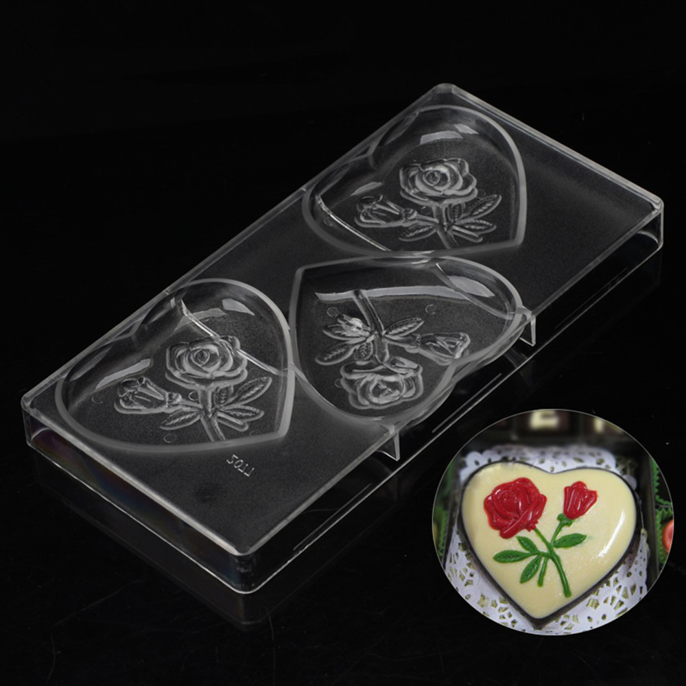 Cheap promotional easter candy molds personalized large heart baking mold polycarbonate chocolate moulds plastic molde chocolate
