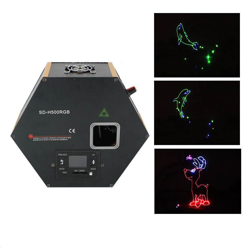 AUCD Red Green Blue Full Color SD Card DIY Laser Animation DMX Projector Stage Lighting PRO DJ Show Party Wedding Light H500RGB lson diy sd card module light blue