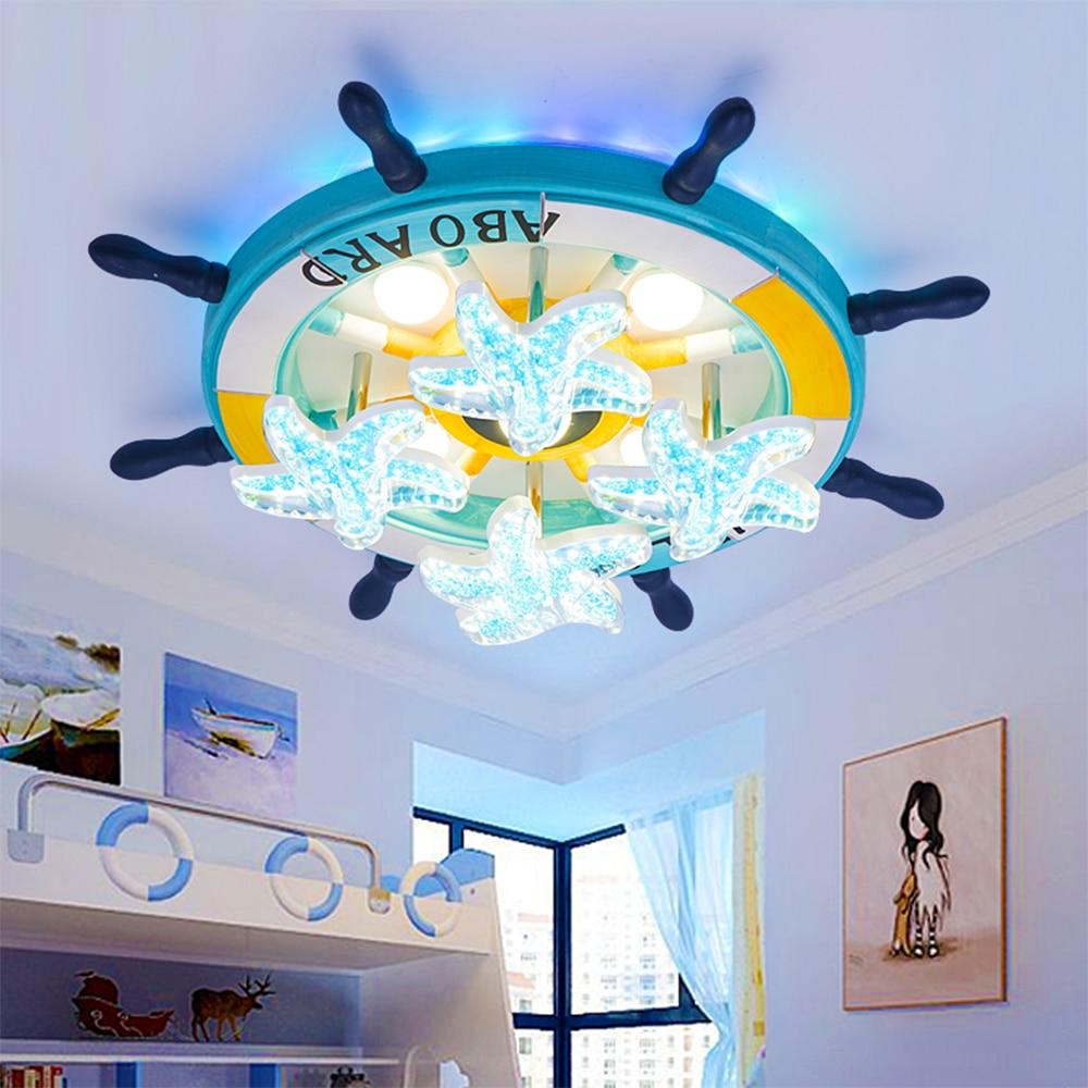 HGhomeart Mittelmeer Holz Led Luminaria 110 V-220 V Führte Deckenleuchten Baby Schlafzimmer Wohnzimmer Deckeneinbau licht