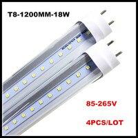 T8 LED 4ฟุตหลอดโคมไฟ18วัตต์22วัตต์4FTหลอดแสงG13 1200มิลลิเมตรเปลี่ยนโคมเรืองแสงAC85-265V LEDท่อน้ำนมฝาครอบ