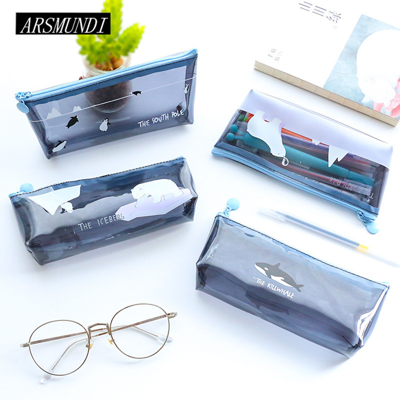 Fish animal pencil case transparent silicone school for Fish pencil case