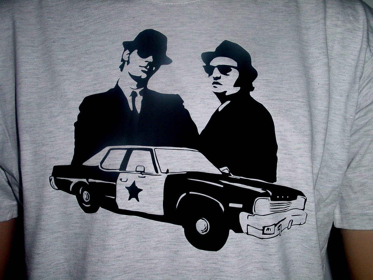 Blues Brothers Bluesmobil футболка ASHGRAU Groe L NEU - 11.11_Double 11_Singles