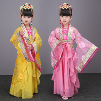 2018 Spring Child Chinese Traditional Hanfu Dress Girls Emperor Queen Princess Stage Children Costumes Tang Suit