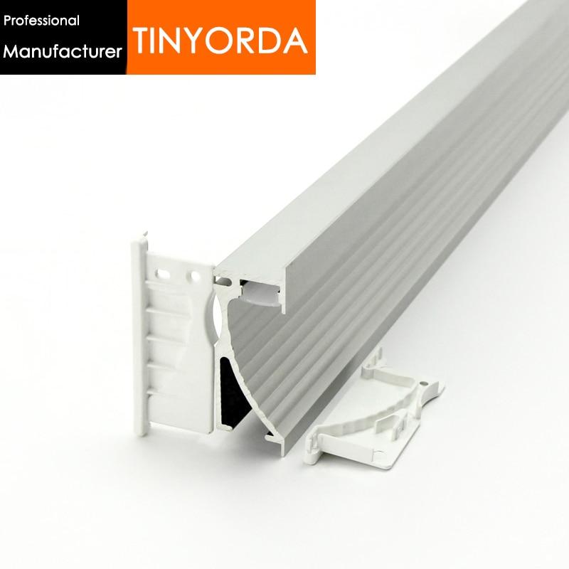 Işıklar ve Aydınlatma'ten Lamba Radyatörleri'de Tinyorda 20 Adet (2M Uzunluk) alu Led Şerit Profil LED merdiven lambası Profil için 14mm Led Şerit Işık [Profesyonel Üretici] TAP7026 title=