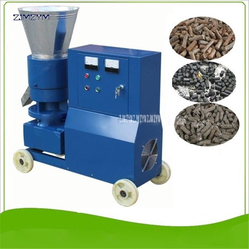 MKL225 Classic design hard wood pellet machine large scale wooden pellet machine 380v/50 Hz Granulator 90-140kg/h production