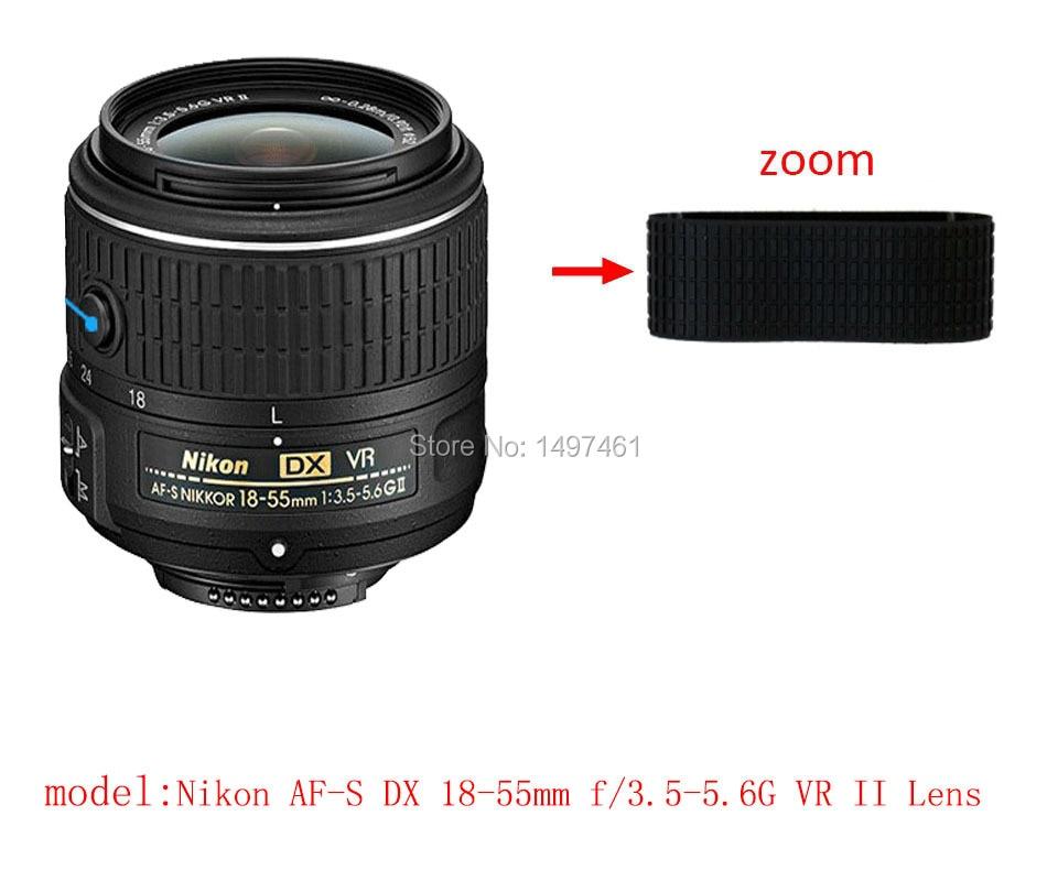 Lentille Zoom Anneau En Caoutchouc/Poignée En Caoutchouc De Réparation Succédané Pour Nikon AF-S DX 18-55mm f/3.5-5.6G VR II objectif