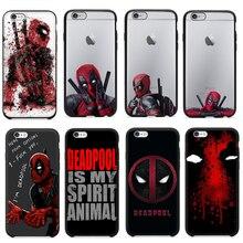 Hot Selling 3D Super Cool Marvel Hero Deadpool Coque Fundas Black Soft Silicone font b Case