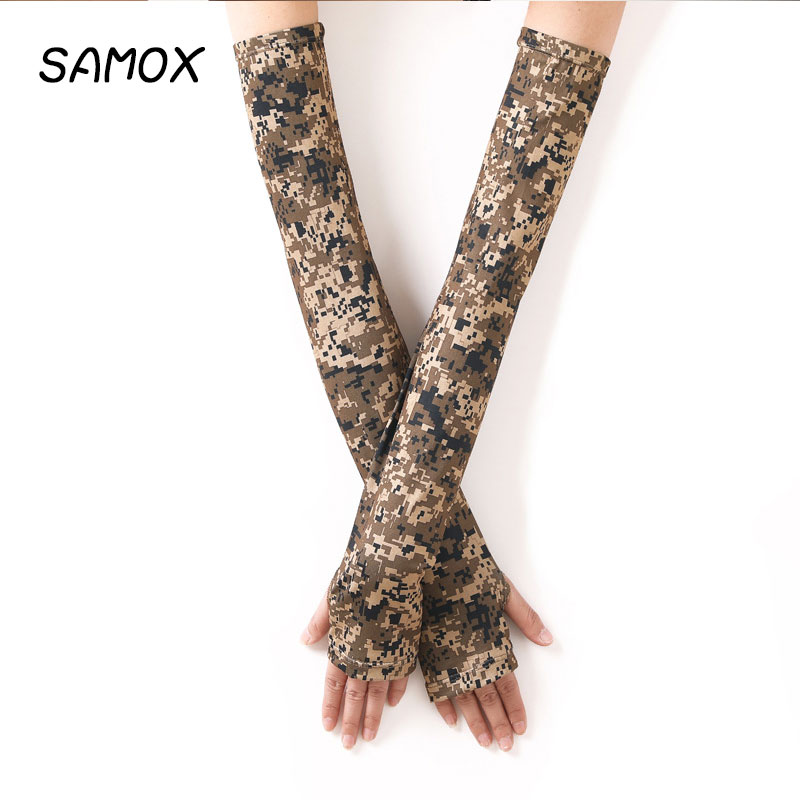 Cycling Arm Sleeves Camouflage Ice Silk Sun Sleeve UV Protection Running Warmers Basketball Volleyball