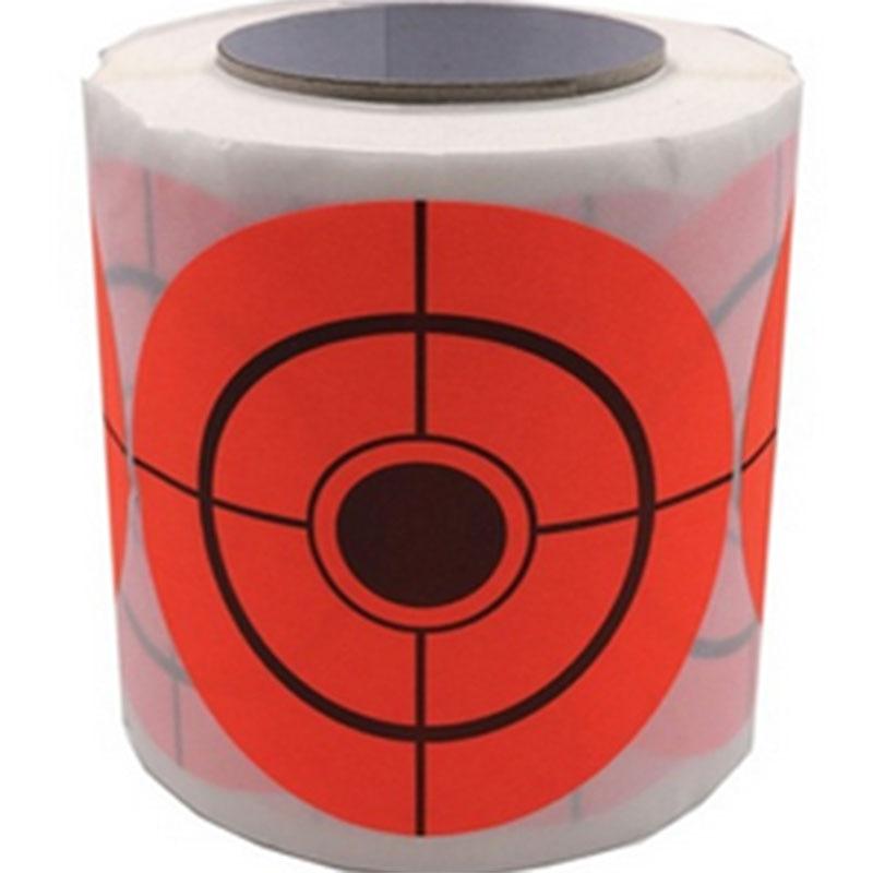 250PCS 3 inch shooting glue target splash reaction target fluorescent red stickers bullseye target sticker Archery practice