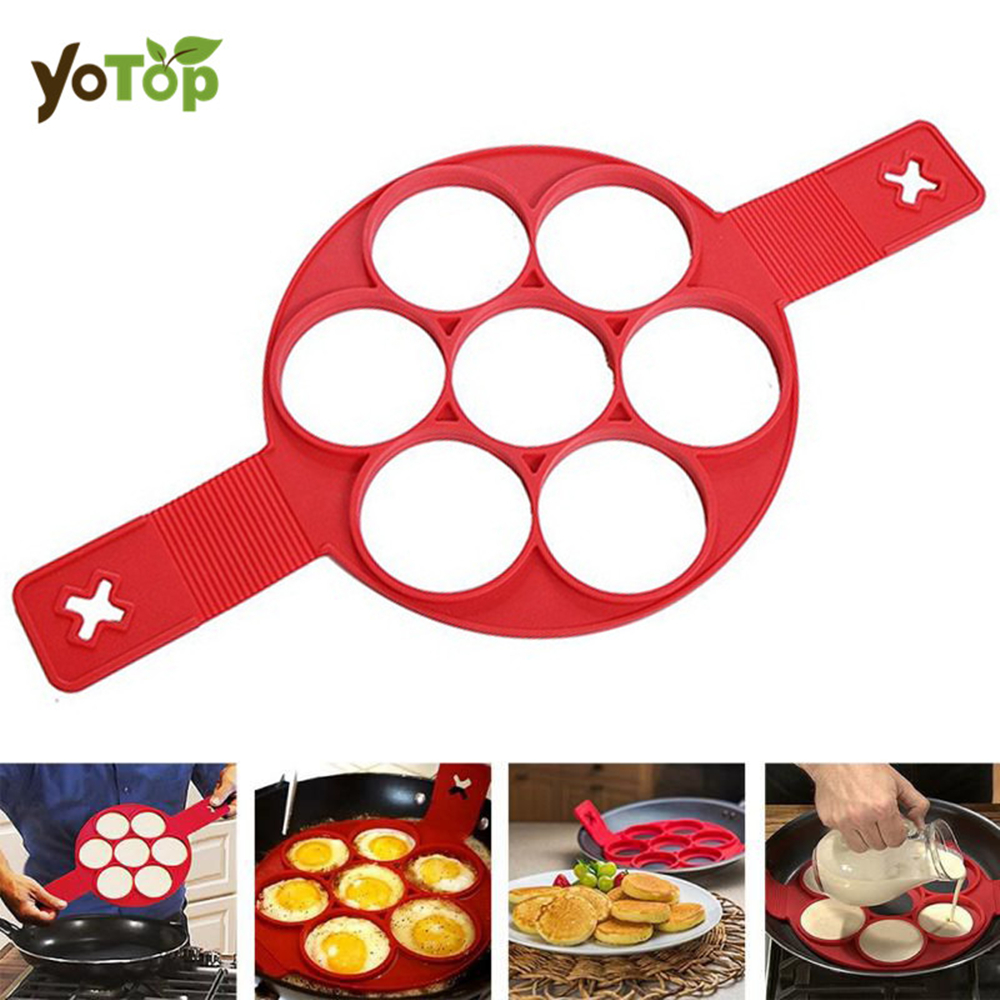 YOTOP Non Stick Flip Fantastic Pancake Pan Flip Perfect Breakfast Maker Eggs Omelette Kitchen Tools 7