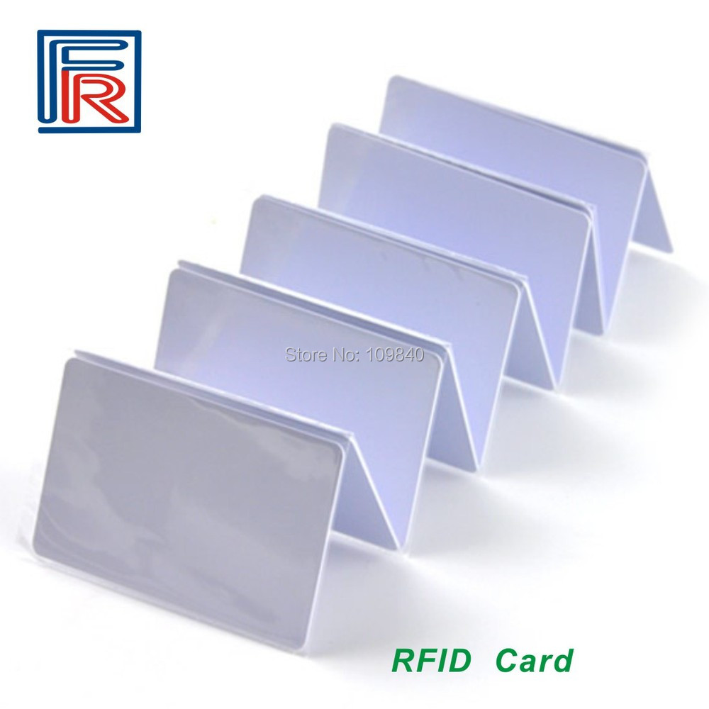 Hot sell 50pcs 125khz PVC RFID waterproof proximity contactless cards in access control with EM chip waterproof contactless proximity tk4100 chip 125khz abs passive rfid waste bin worm tag for waste management