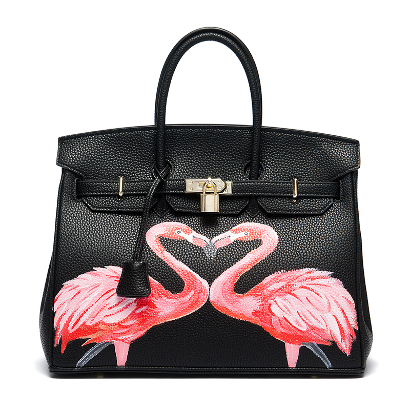 Female brand women handbags high quality Luxury tote bag pu leather Hand Painted hand bags personality women larger capacity bag стоимость