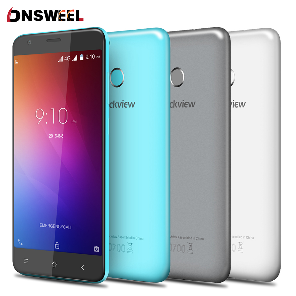 Blackview E7 Fingerprint ID Mobile phone MT6737 Quad Core Android 6.0 Smartphone 5.5 inch 1GB+16GB 8MP 4G cell phone Free Case