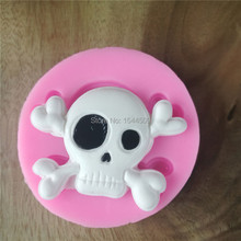 DIY silicone molds for cake decorating fondant mold soap Halloween skull sugar chocolate mould bakeware kitchen