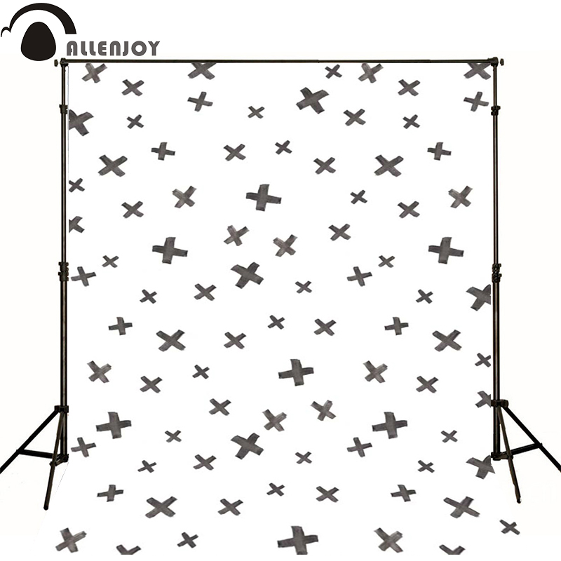 Allenjoy Photographic background Cross black and white ash newborn vinyl backdrops photo for studio custom wall floor