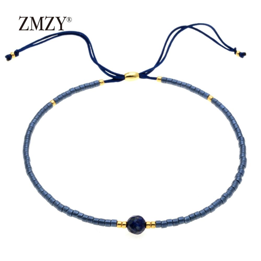 ZMZY Miyuki Delica, бисер, женские браслеты, ювелирные изделия дружбы, модные, сделай сам, Bijoux Femme, простые браслеты, Прямая поставка - Окраска металла: QSSL003-17