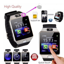 Купить с кэшбэком DZ09 Smart Watchs Square Support SIM &TF Card With Whatsapp And Facebook Men Women Business Smartwatch For Android Phone