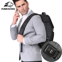 Kingsons 2018 Anti thief Men Backpack 15.6 Inches Backpack Male New Laptop Bag Business Travel Mochila Bagpack Pack Design