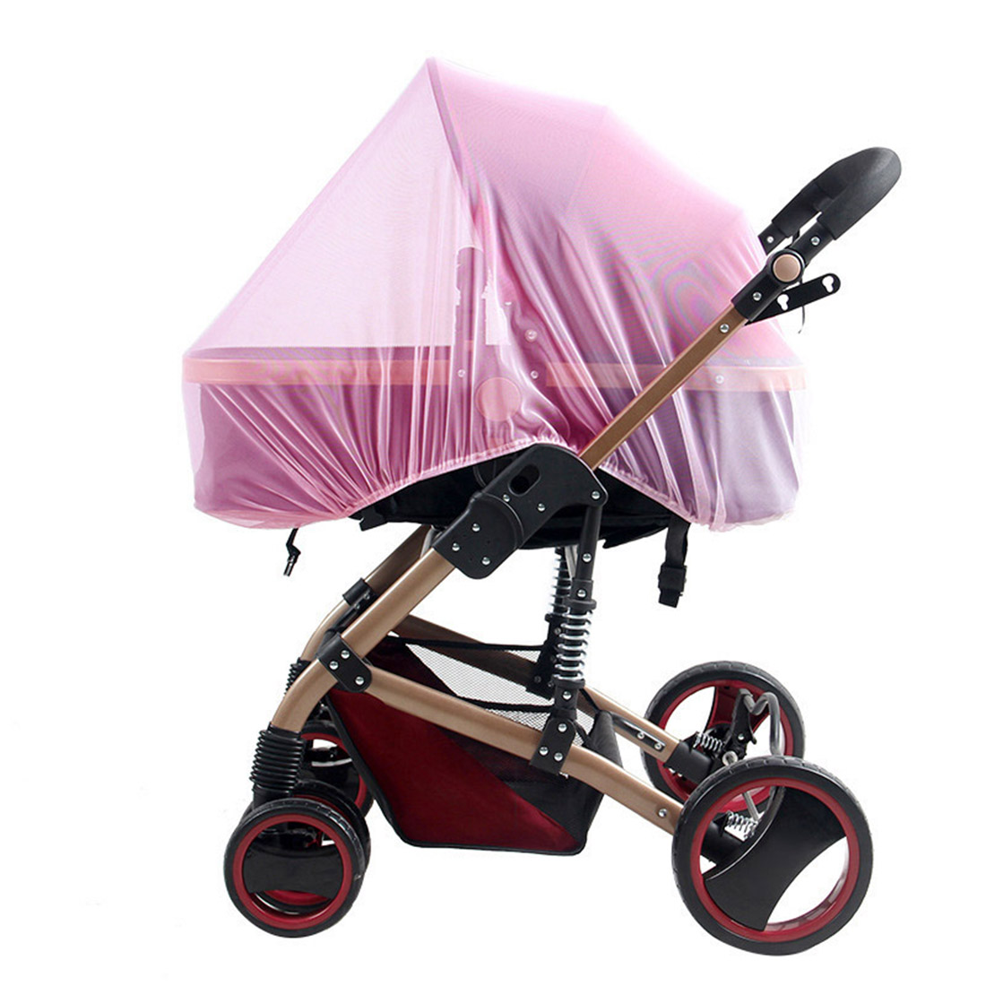 Universal Full Cover Mosquito and Insect Net for Baby Strollers Bassinets Cradles with Elastic Band