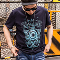 t-shirt men 2XL-7XL plus size t shirt men floral printing hip hop casual tops tee