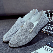 цены 2019 spring and autumn men's peas shoes breathable low to help wear lazy shoes Korean version of the wild youth casual shoes
