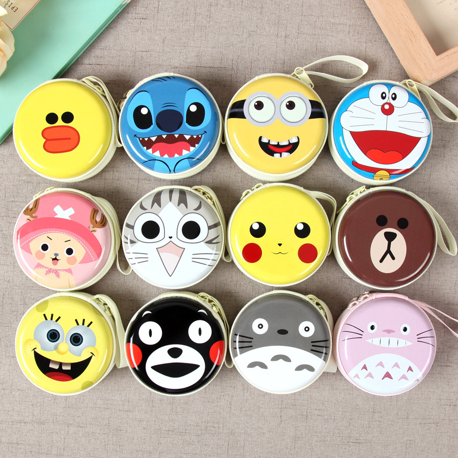 Cute cartoon Mini coin purse girls key case wallet children headset bag coin bag Zipper handbag Children gifts Piggy Pecs korean ladies transparent cartoon coin purse girls zipper coin wallet children cute animal mini key card pouch bag for kids