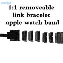 CRESTA 1:1 Desmontable inoxidable 316L de Acero Inoxidable brazalete de eslabones y de Lujo Metal correa para apple venda de reloj 42mm 38mm 1 2