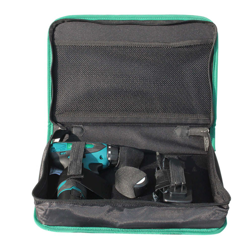 LAOA функциональная портативная оксфордская ткань, литиевая электрическая дрель, сумка для инструментов, водостойкая электрическая дрель, сумка для хранения инструментов