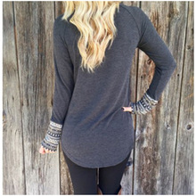 New Womens Fashion O-Neck Long Sleeve Knitwear Sweater Tunic (Gray,S)